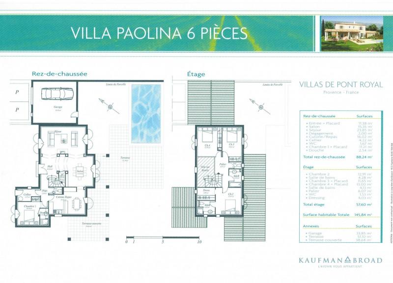 Villa neuve de 4 chambres dans le golf de Pont Royal piscine, jardin, garage
